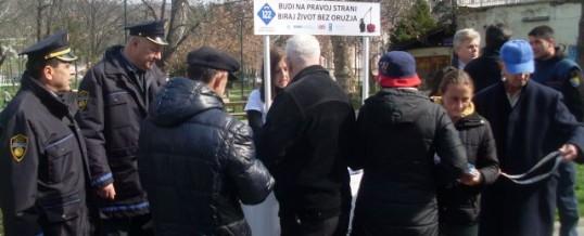 """Promocija kampanje """"Biraj život bez oružja"""" u Tuzli"""