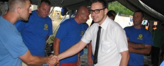 Ministar unutrašnjih poslova TK Amir Husić obišao policajce u Cerskoj