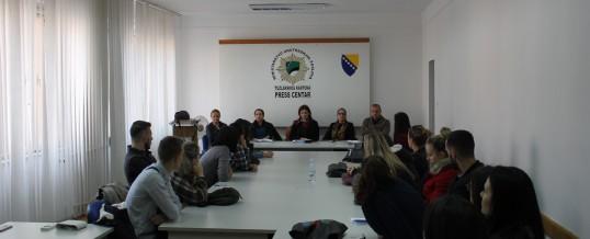 Posjeta studenata Edukacijsko-rehabiltacijskog fakulteta MUP-u TK-a