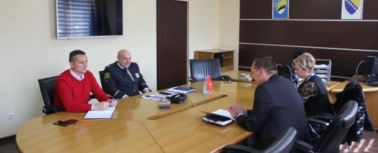 Predstavnici Misije OSCE-a u BiH u radnoj posjeti Upravi policije MUP-a TK